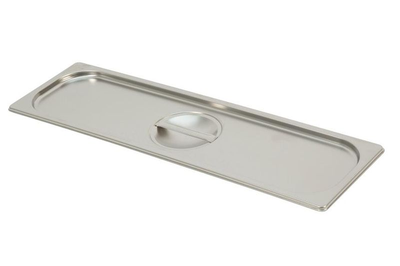 Couvercle inox pour bac gastro GN 2/4